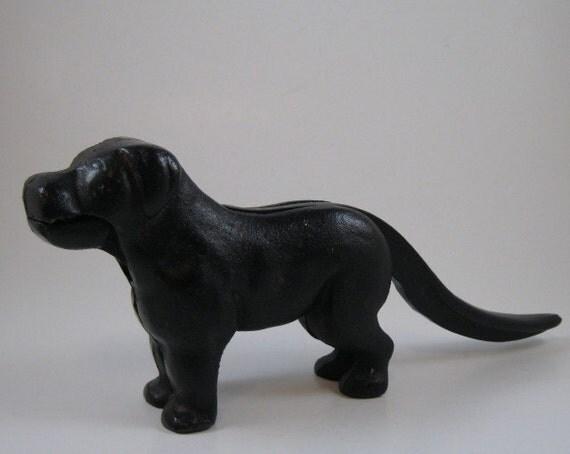 Black Cast Iron Dog Nutcracker