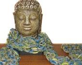 Desert Sage Dried Herb Aquamarine Autumn Scarf for Men or Women