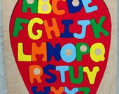 Personalized Name Alphabet Apple Theme Puzzle...Every preschool child needs a good Alphabet puzzle to learn their ABC's...educational fun!!!