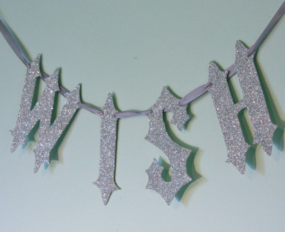 WISH german glass glitter garland