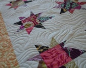 scrappy wonky stars...lap quilt.....price reduction