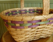Easter Basket - Lavender & Green