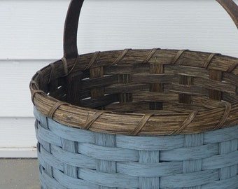 Painted Round Basket