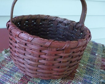 Little Red Round Basket