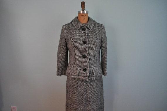 vintage set 60s suit skirt jacket XS/S