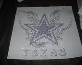 Diy Rhinestone Transfer of Texas Star n Wings