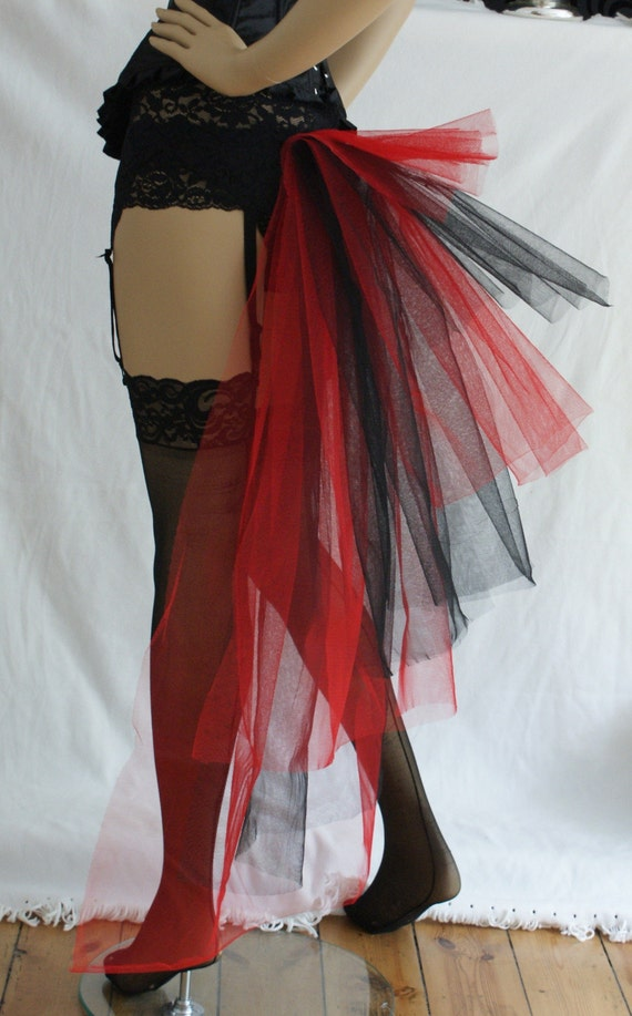 Black and Red Bustle Burlesque Any Size