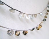 """Buttons Garland - Mother of Pearl Crochet Garland - Beach Wedding Garland - Spring, Home, Party, Wedding Decoration, Christmas - 62"""""""