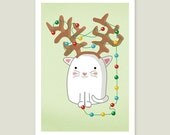 Christmas Tree-cat 4 x 6