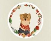 Dressmaker weasel designer couturier Home Decor - Print 8 x 11.5
