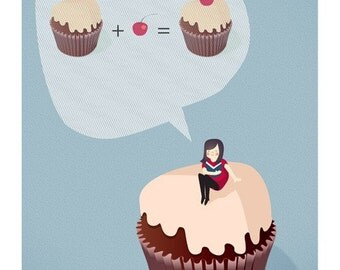 Cupcake equation Print 8 x 11.5