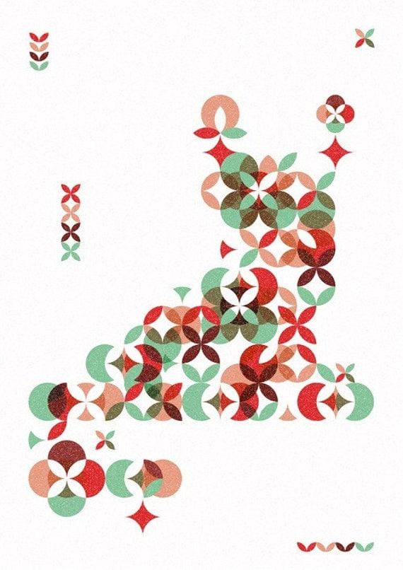 Items similar to Geometric garden Print 8 x 115 on Etsy