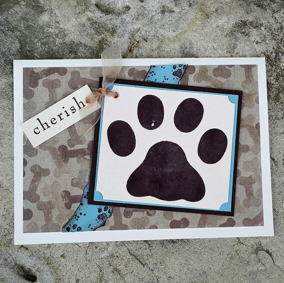 Big Paw Print Dog Sympathy Card