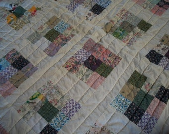 Patchwork Baby Quilt Scrappy Nine-Patch