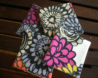 Fabric Coasters Set of 4 Mod Floral