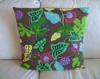 """Throw Pillow Cover Woodland Floral 20"""" x 20"""""""