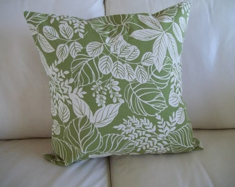 Throw Pillow Cover ~ Woodland Fern Pillow Cover ~ Green Fern ~ 18 x 18 Pillow Cover