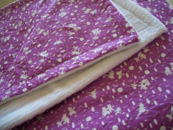 Retro Nursery Print Baby Blanket