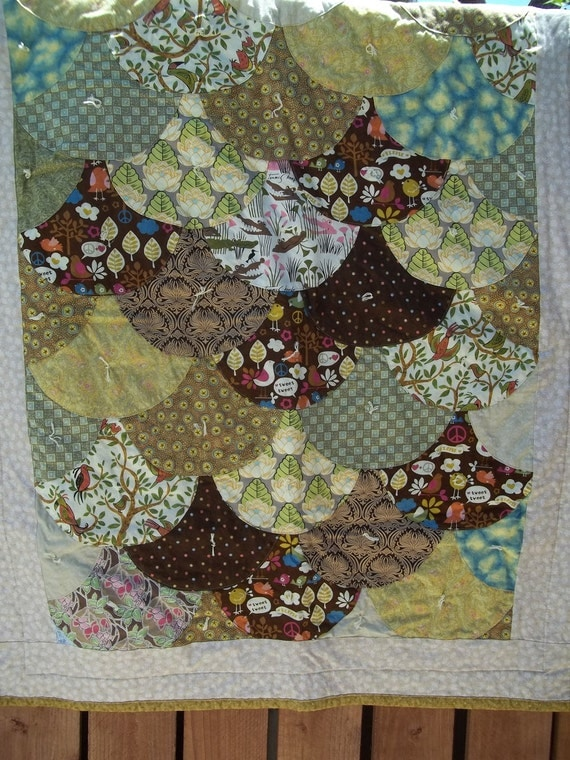 Baby Quilt Patchwork Clam Shell
