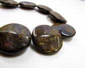 25mm Submetallic Luster Bronzite Coin 8 inches