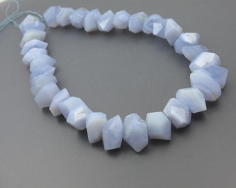 Blue Chalcedony Faceted Chunky ZB3418