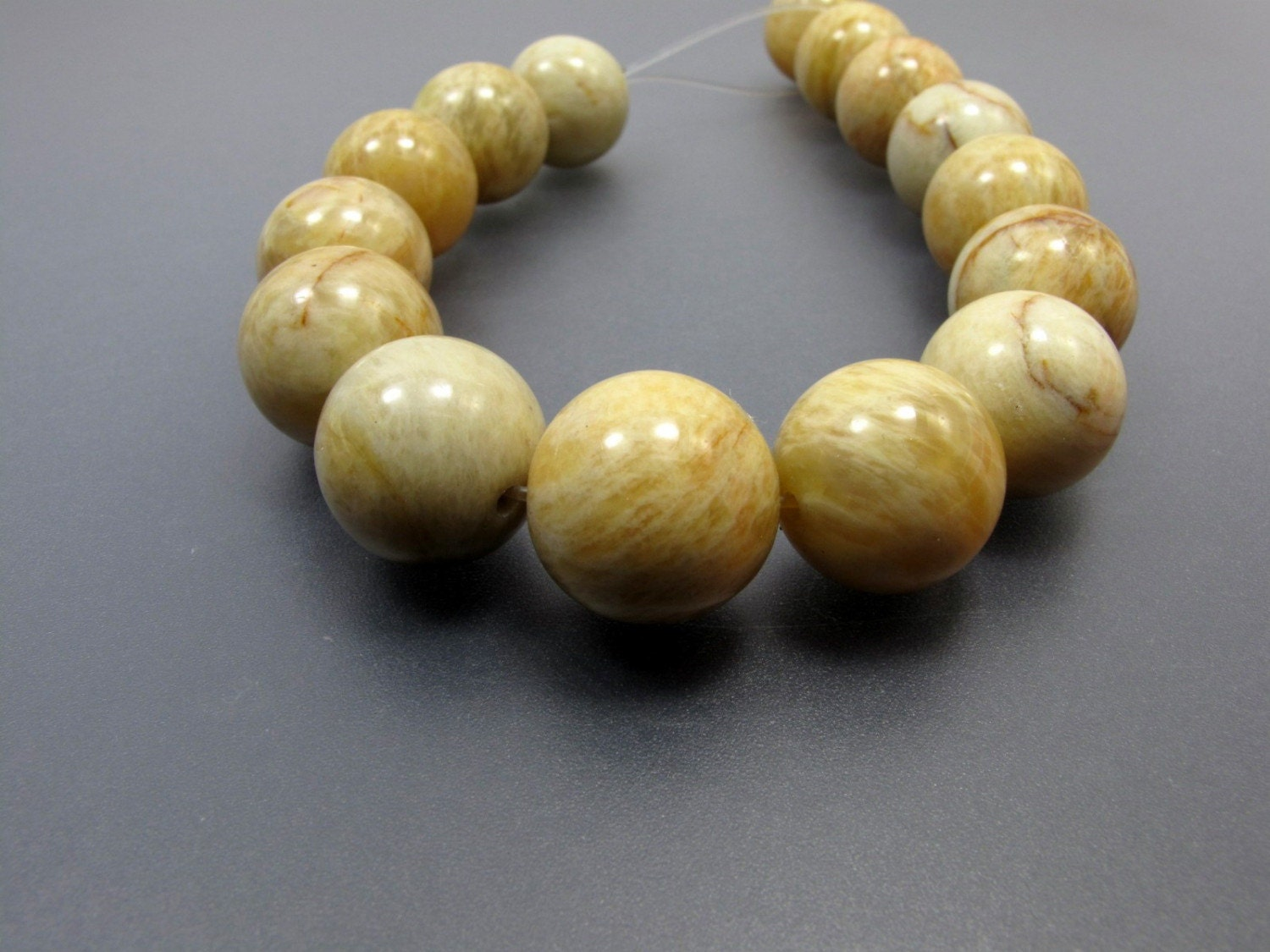 16mm Honey Brown Yellow Amazonite Round Shape Y3005 From
