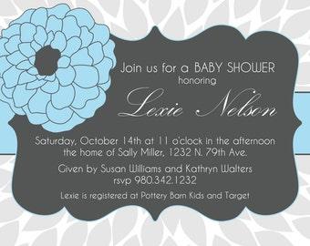 Lexie- Custom Baby Shower Invitation - PRINTABLE INVITATION DESIGN
