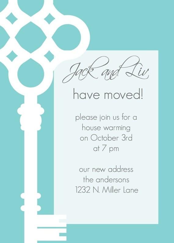 JackandLiv- Custom Key Moving Annoucement or Housewarming Invitation - PRINTABLE INVITATION DESIGN