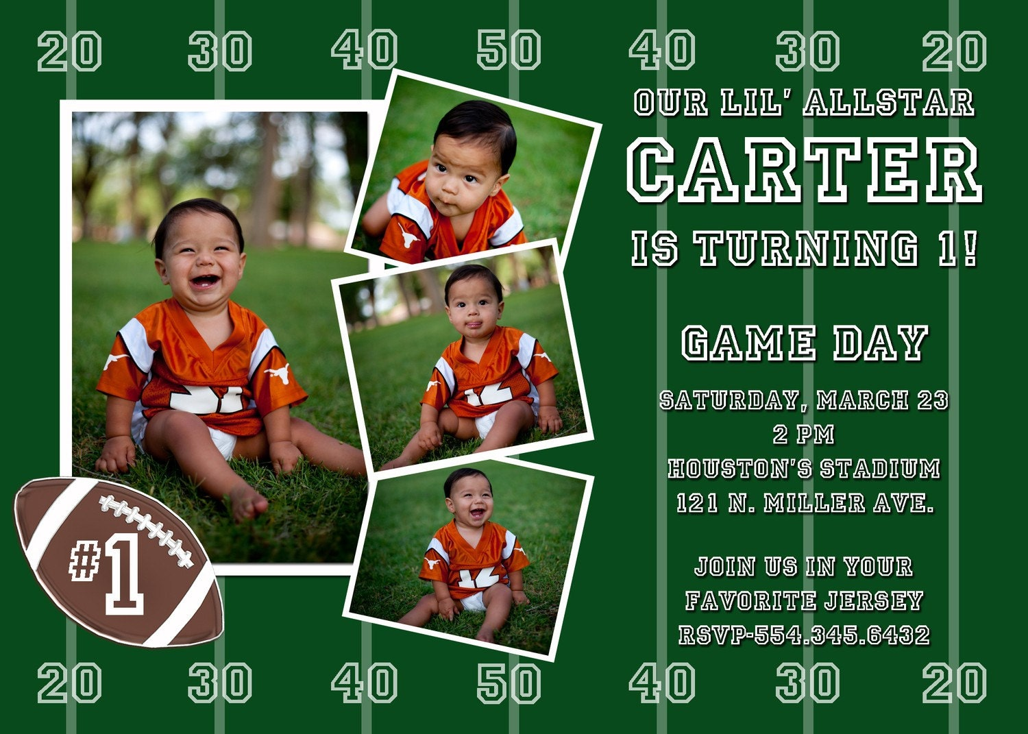 Football Birthday Party Invitations is one of our best ideas you might choose for invitation design