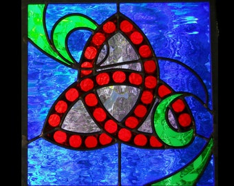 SALE Trinity Traditional Stained Glass Panel