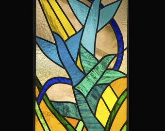 SALE Bird Flight Stained Glass Window