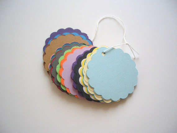 2 inch scalloped ragged edge Tags