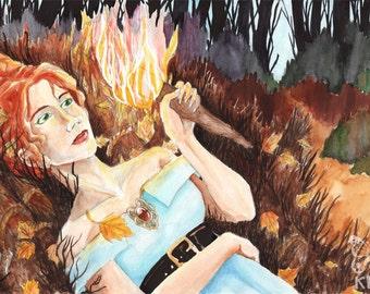 September ORIGINAL Watercolor