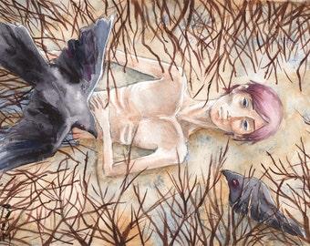 November ORIGINAL Watercolor