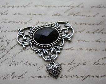 Gothic victorian brooch