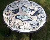 Vintage Hand Painted Furniture Lily Table