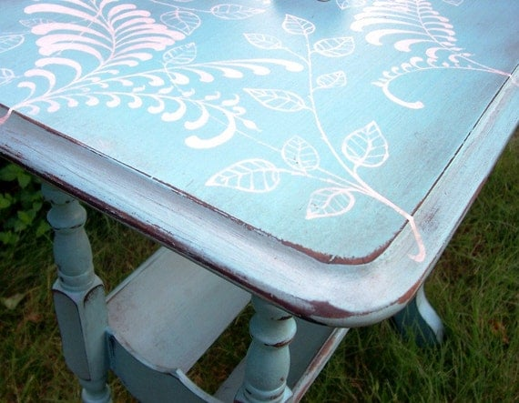 Reserved litfuse Furniture Hand Painted Table