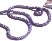 Purple and Cream Russian Spiral Necklace