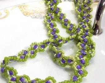 Wisteria Rope Hand Beaded Necklace