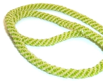 Spring Green Russian Spiral Necklace
