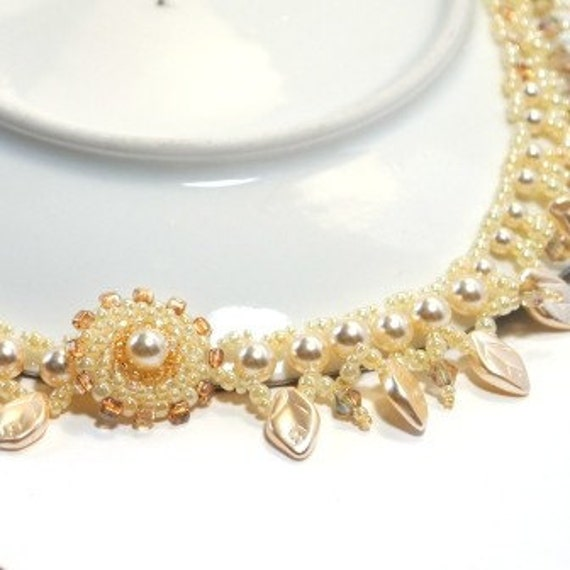 Pearl Bridal Statement Beaded Choker in Royal Wedding Style