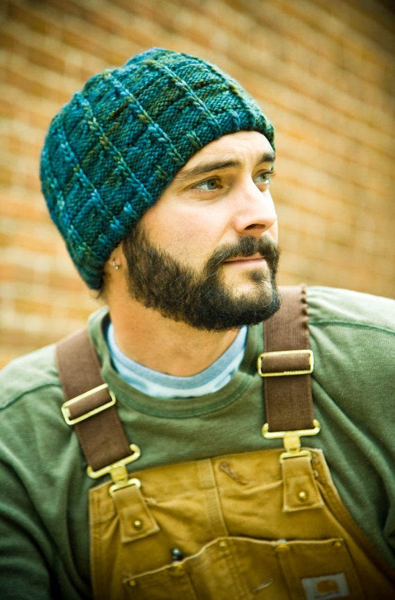 Mens Knitted Hat Patterns : Mens Hat Knitting Pattern J.T. Pattern PDF by Woolibear ...