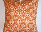 """Throw Pillow Cover - 16x16"""" sewn with Jenean Morrison's California Dreamin Santa Rose - LAST ONE Discontinued Fabric - Modern Floral Graphic"""