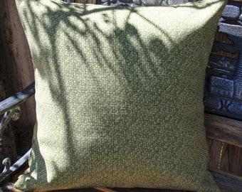 "Throw Pillow Cover, Outdoor Pillow, Toss Pillow, Accent Pillow, Decorative Green Cushion Cover, Green Outdoor Pillow Cover, 18x18"" Square"