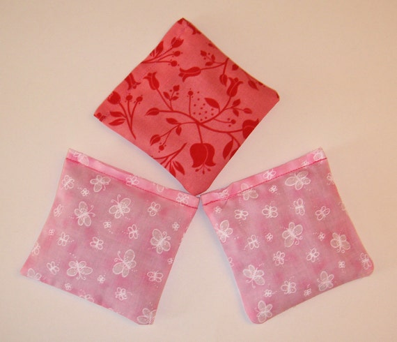 Lavender Sachets Set of Three 4 x 4 in assorted Sandi Henderson and Cozy Casual fabrics