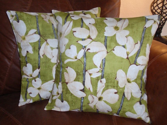 Throw Pillow removable cover 16x16 Set of 2 by PersnicketyHome