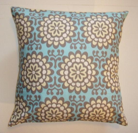 Throw Pillow 16X16 Removable cover sewn with Amy Butler s