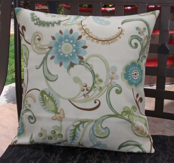 Throw Pillow 16X16 Removable cover sewn with Richloom s