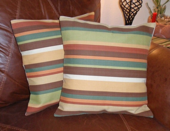 Throw Pillow With Removable Cover : Throw Pillow removable cover 16x16 Set of 2 sewn with P.