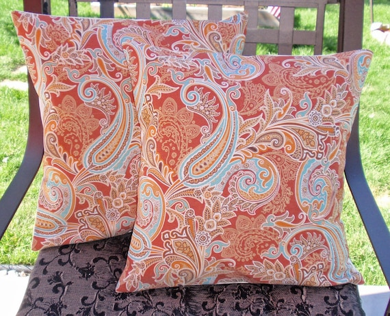 Decorative Pillows With Removable Covers : Throw Pillow removable cover 16x16 Set of 2 sewn with Solarium